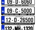 Number plate surrounds