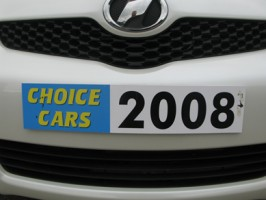 Display number plates with year