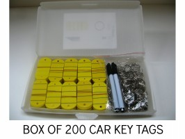 GARAGE KEY TAGS, BASIC KEY TAG, CAR SALES KEY TAG