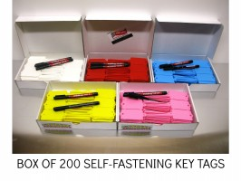 CABLE TIE KEY TAGS, SELF LOCKING KEY TAG,