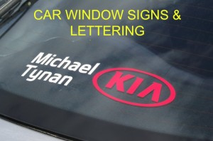 LETTERS FOR CAR WINDOWS, CAR WINDOW GRAPHICS , DEALER STICKERS