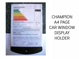 DISPLAY A4 PAGE IN CAR WINDOW, BLADE SPEC SHEET HOLDERS