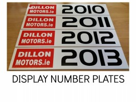 SHOWROOM PLATES, CAR DEALER NAME REG PLATES, NUMBER PLATE COVERS