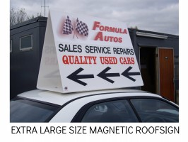 GIANT ROOF SIGN, CAR ADVERTISING SIGNS,
