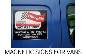 MAGNET PANELS, REMOVABLE SIGNS, VAN SIGNS
