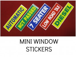 DIESEL WINDOW STICKERS, AUTOMATIC STICKERS