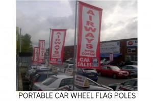 CAR FLAGS, FORECOURT FLAG POLE, CAR SALES FLAG