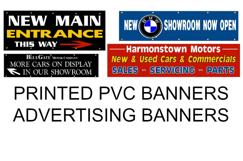ADVERTISING BANNERS, FLAGS FOR RAILINGS