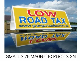 CAR FOR SALE SIGN, MAGNET ROOF SIGN, HEADBOARD SIGN,